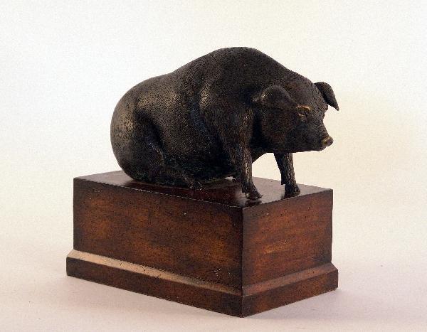 1057: Brass piggy bank.