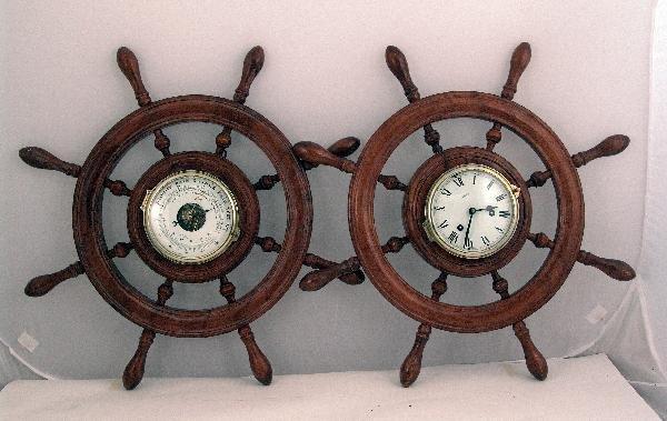1061: Mid 20th century Schatz clock and barometer set