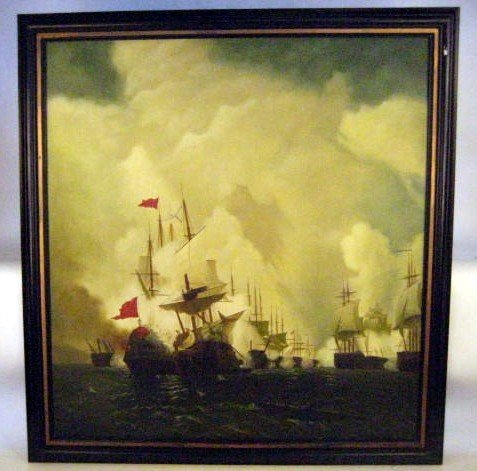 1101: Sea Battle oil on canvas