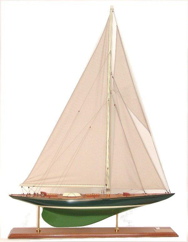 "1102: Model of America's Cup yacht ""Shamrock V"""