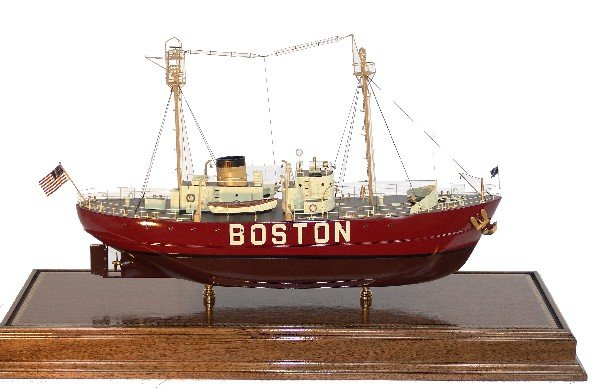 1107: Cased Model of the Lightship Service Vessel Bosto