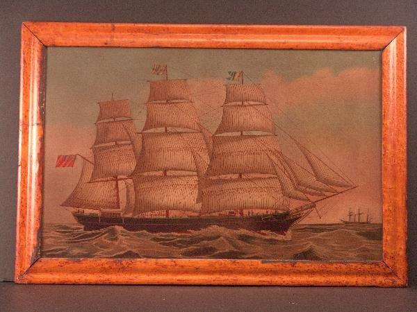 1111: 1800's Ship Portrait on steel panel