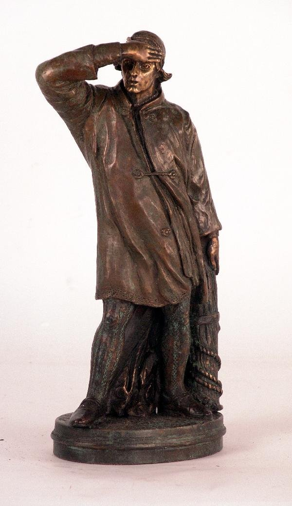 1113: Bronze of a Fisherman
