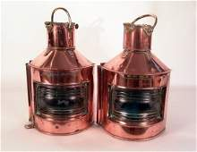 1185A Copper ships port and starboard lanterns