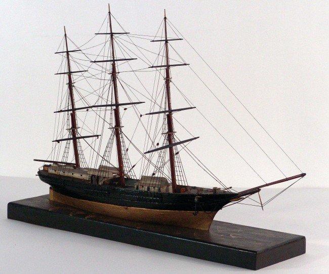 1012: Antique Clipper Ship Model