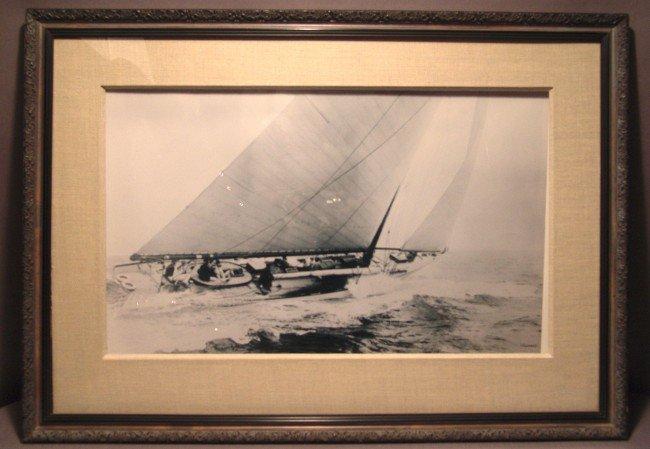 1016: Rosenfeld Black and White Yacht Photograph