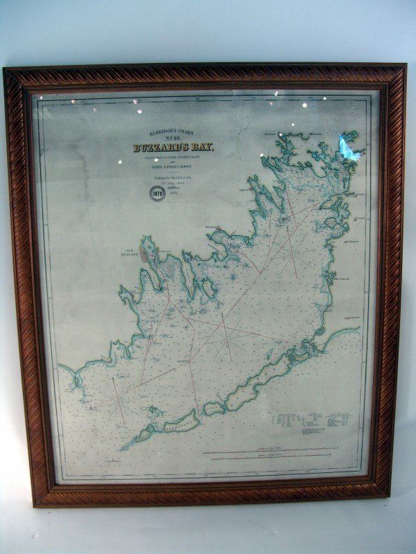 1020: Hand colored chart of Buzzards Bay