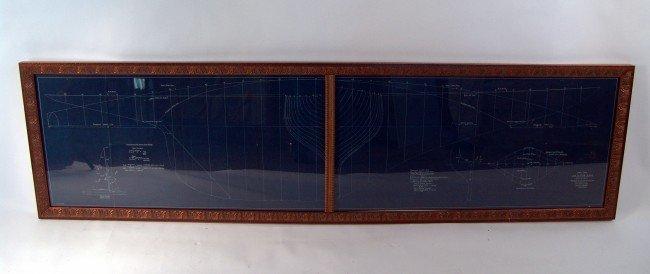 1022: Original six-metre class pond yacht blueprint