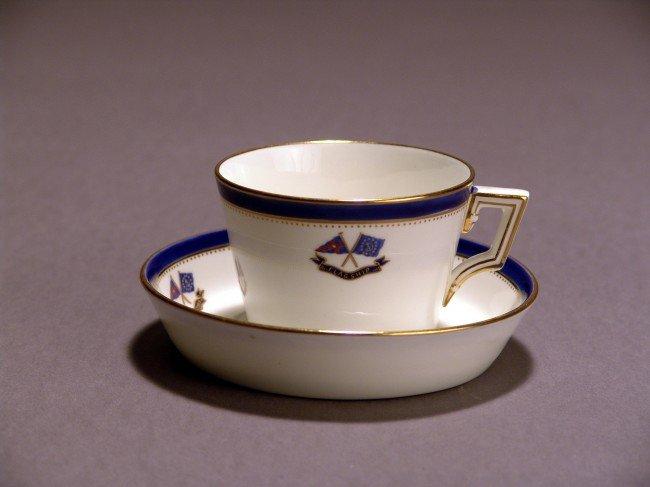 1048: Flagship Corsair Tea Cup and Saucer