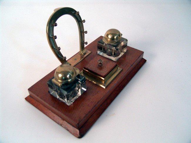 "1049: Desk set from steam yacht ""Aloha""."