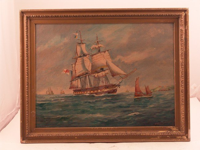 1051: 1931, Hardcastle painting of a warship