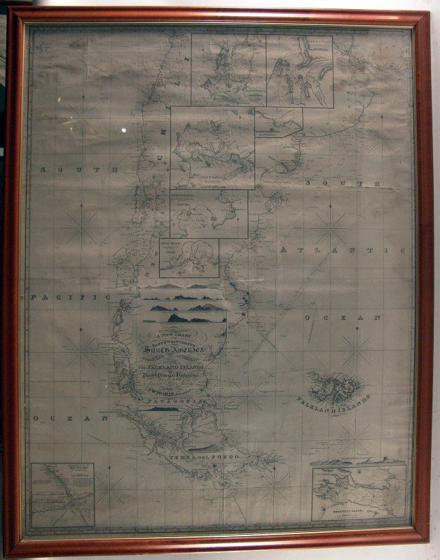 1057: 1822 Chart of South America