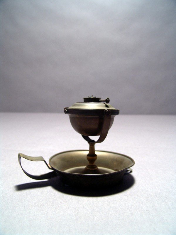1059: Brass Oil Lamp from the New York Yacht Club