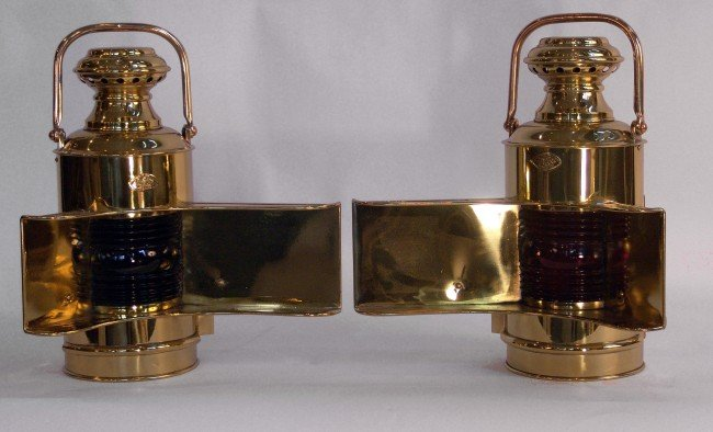 1067: Pair of Perko port and starboard lanterns.