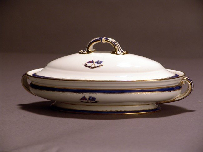1143: Mintons Flagship Corsair Serving Bowl with Lid