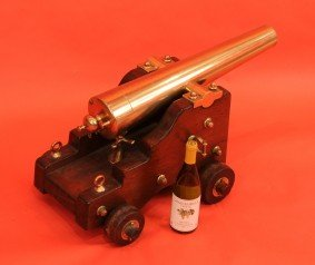 """1115: Bronze signal cannon from the yacht """"Colonia"""" c.1"""