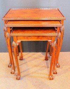 1010A: Burlwood Nesting Tables