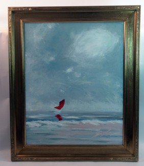 1001: Catboat painting by Kevin Doyle