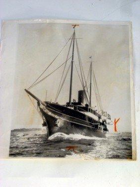 1017: Press photo of J.P. Morgan's yacht Corsair