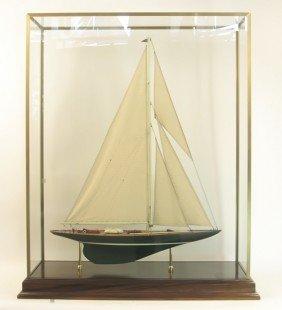 "1018: Model of America's Cup yacht ""Shamrock V"""