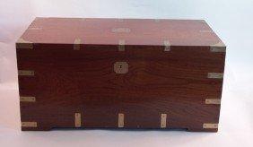 1021: Brass bound camphorwood chest