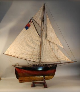 Vintage Pond Yacht Of A Cutter