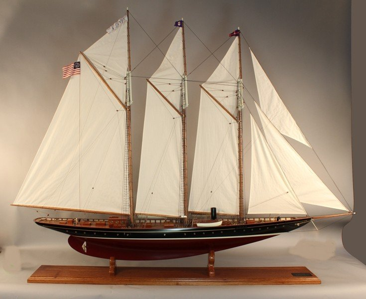 1089: Large model of the Schooner yacht Atlantic