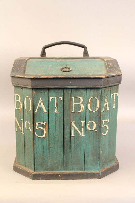 1090: Early 20th century fisherman's line box