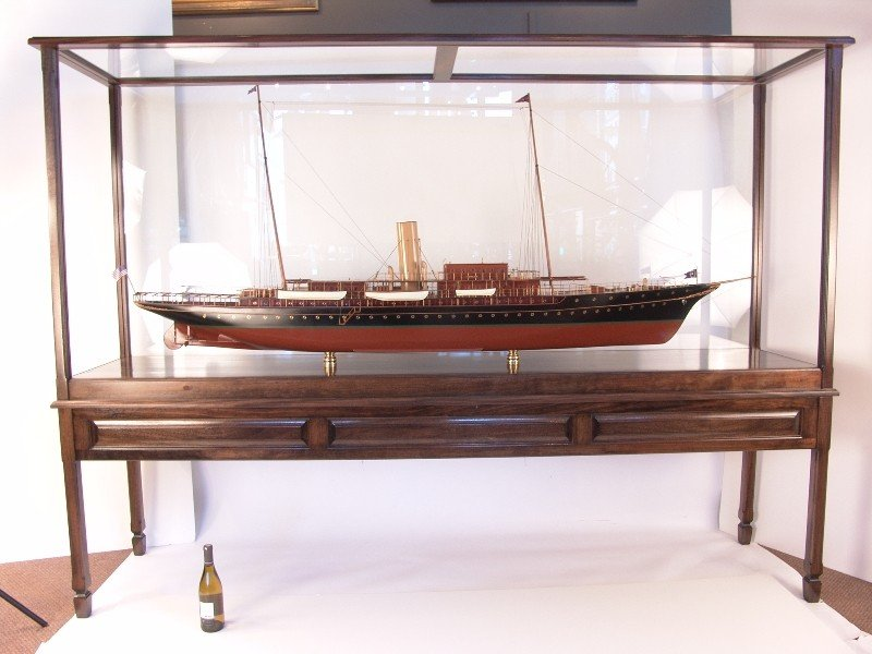1099A: Monumental, nine-foot model steam yacht Corsair