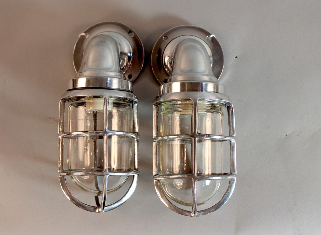 1: Pair of Aluminum Companionway Lights