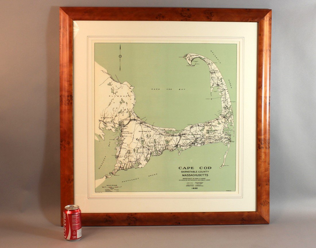 5: Matted and Framed Map of Cape Cod