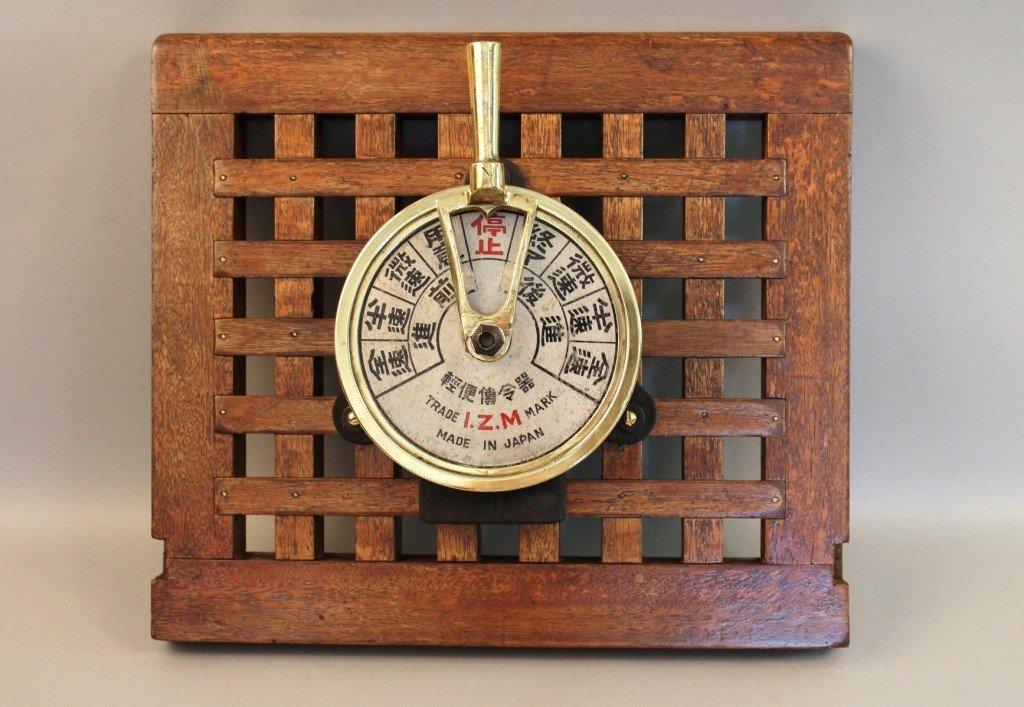 11: Japanese engine order telegraph