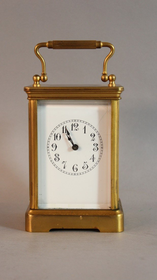 "13: ""Boston"" Tandem Wind Carriage Clock"