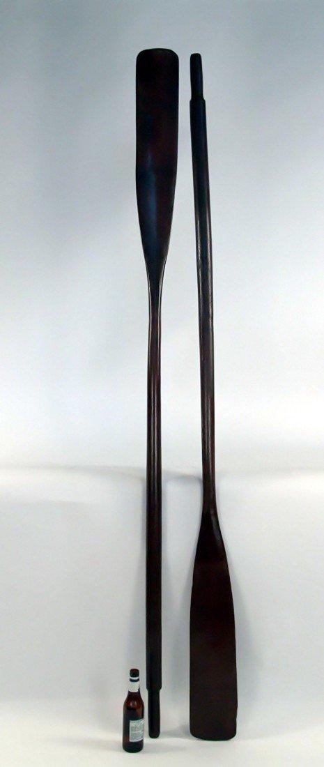 17: Pair of boat oars