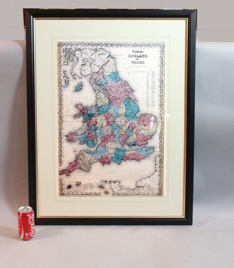 18: 19th century map of England