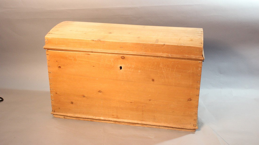 19: Dome Top Pine Chest