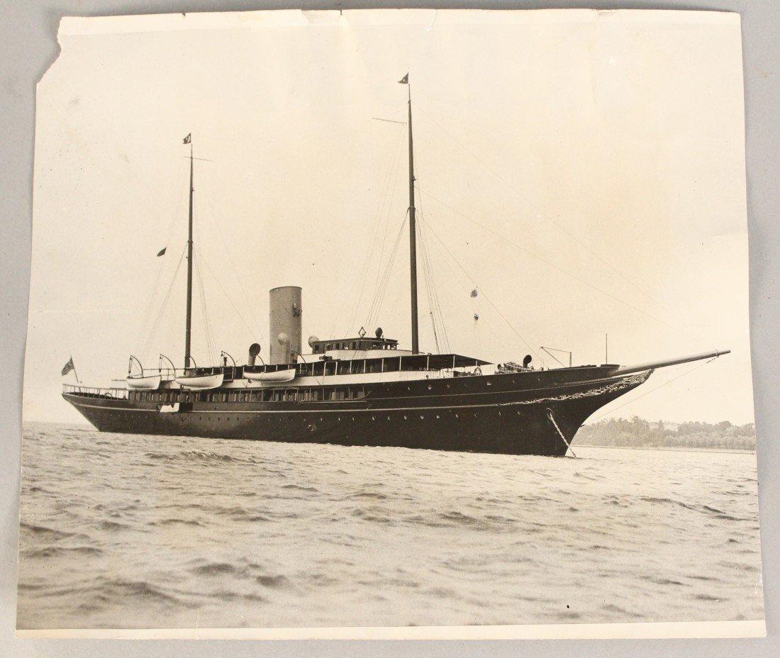 "20: Associated press photo of yacht ""Corsair""."