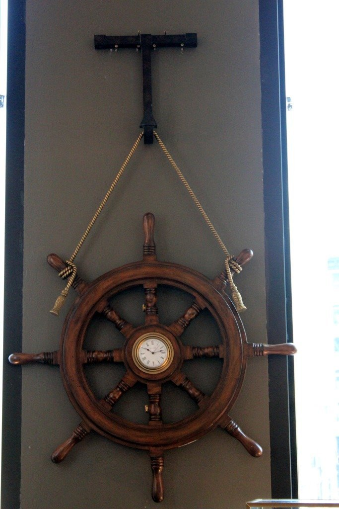 4: Ship's wheel clock.