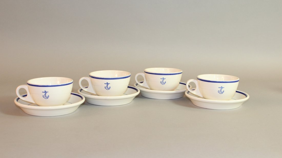9: Set of Six US Navy Cups & Saucers