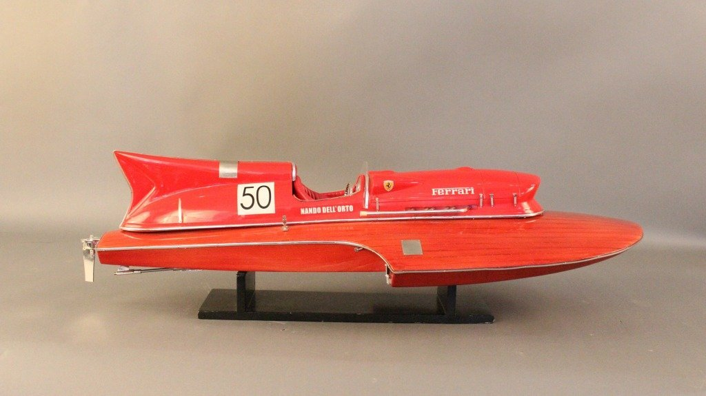24: Ferrari Speedboat Model