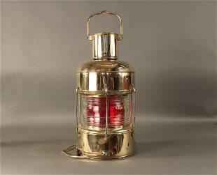 Solid brass ship's anchor lantern