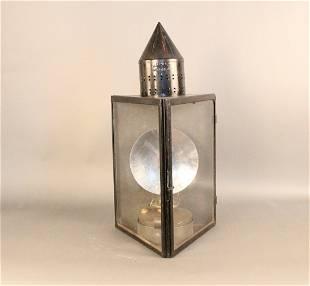 Iron triangular lantern