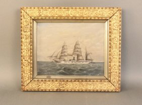 Steam yacht painting