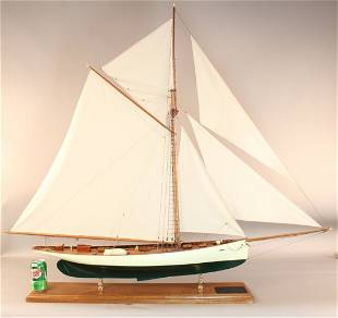 """A Scale model of the 1895 America's Cup Yacht """"Puritan"""""""