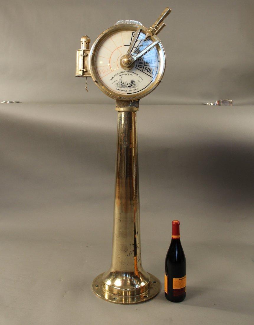 Brass ship's telegraph by Swan Hunter.