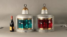 """Port and starboard lanterns by """"Perko"""""""