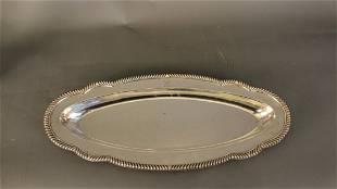 US Navy silverplate fish platter