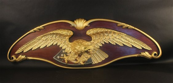 Sternboard with gilded eagle