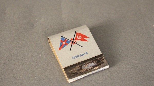 "Steam Yacht ""Corsair"" book of matches"