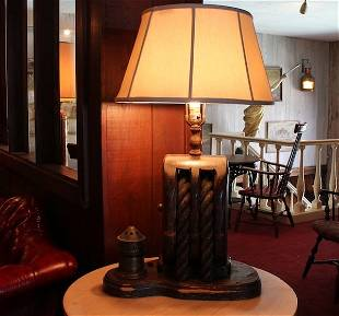 Nautical table lamp from Anthony's Pier 4